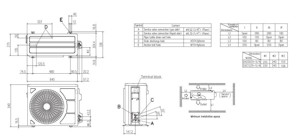 medium resolution of mitsubishi heavy industries air conditioning srk25zsp s wall heat pump 2 5kw 9000btu install